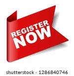 red vector banner register now   Shutterstock .eps vector #1286840746