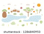 hand drawn vector illustration... | Shutterstock .eps vector #1286840953