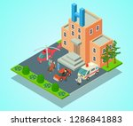clinical hospital concept... | Shutterstock .eps vector #1286841883