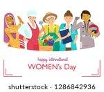 international women's day... | Shutterstock .eps vector #1286842936