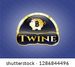 shiny badge with bitcoin piggy ...   Shutterstock .eps vector #1286844496