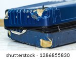 traveling suitcase damaged at...   Shutterstock . vector #1286855830