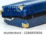 traveling suitcase damaged at...   Shutterstock . vector #1286855836