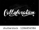 collaboration word  hand... | Shutterstock .eps vector #1286856586