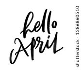 spring month vector hand... | Shutterstock .eps vector #1286860510