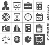 business icons. vector... | Shutterstock .eps vector #128686199
