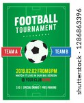 football tournament flyer... | Shutterstock .eps vector #1286863396