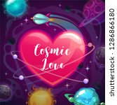 cosmic love. valentines day... | Shutterstock .eps vector #1286866180