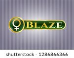 gold shiny badge with female... | Shutterstock .eps vector #1286866366