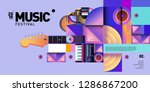 vector colorful music festival... | Shutterstock .eps vector #1286867200