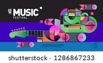 vector colorful music festival... | Shutterstock .eps vector #1286867233