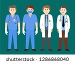 male medical staff vector... | Shutterstock .eps vector #1286868040
