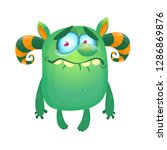 funny crying monster with tears ...   Shutterstock .eps vector #1286869876