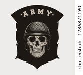 millitary army skull vector | Shutterstock .eps vector #1286871190