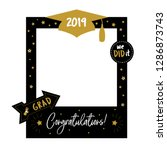 graduation party photo booth... | Shutterstock .eps vector #1286873743