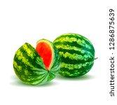 watermelon low poly. fresh ... | Shutterstock . vector #1286875639