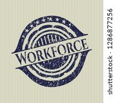blue workforce distressed... | Shutterstock .eps vector #1286877256