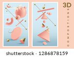 vertical banners set with 3d... | Shutterstock .eps vector #1286878159