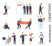 people searching and losing... | Shutterstock .eps vector #1286879293