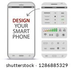 white mobile phone vector...