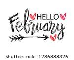 Hello February Hand Lettering