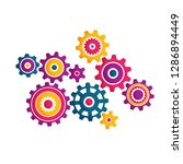 multicolored cogwheel in... | Shutterstock .eps vector #1286894449