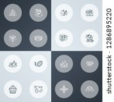 year icons line style set with... | Shutterstock . vector #1286895220