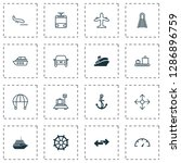transport icons set with vessel ... | Shutterstock .eps vector #1286896759