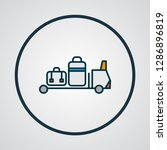 baggage transfer icon colored... | Shutterstock .eps vector #1286896819