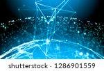 plexus spherical structure and... | Shutterstock . vector #1286901559