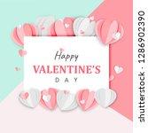paper art of happy valentine's... | Shutterstock .eps vector #1286902390