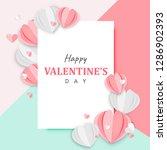 paper art of happy valentine's... | Shutterstock .eps vector #1286902393