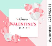 paper art of happy valentine's... | Shutterstock .eps vector #1286902396