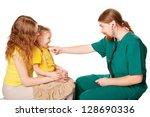 pediatrician doctor man... | Shutterstock . vector #128690336