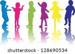 group of children   Shutterstock .eps vector #128690534