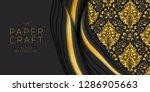 vector 3d abstract dark... | Shutterstock .eps vector #1286905663