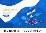 astronomy subject  school... | Shutterstock .eps vector #1286909599