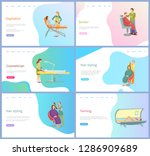 beauty procedures vector ... | Shutterstock .eps vector #1286909689