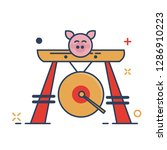 pig chinese new year 2019 icon  ... | Shutterstock .eps vector #1286910223