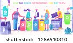 garbage sorting  ecology... | Shutterstock .eps vector #1286910310