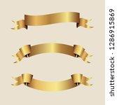 set of golden ribbons vector. | Shutterstock .eps vector #1286915869