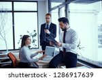 beautiful business people are... | Shutterstock . vector #1286917639
