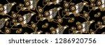 background  chain  snake  gold  ... | Shutterstock . vector #1286920756
