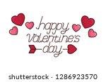 happy valentines day | Shutterstock .eps vector #1286923570