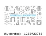 chemical laboratory vector... | Shutterstock .eps vector #1286923753