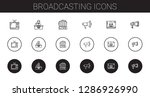 broadcasting icons set.... | Shutterstock .eps vector #1286926990