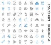 delicious icons set. collection ... | Shutterstock .eps vector #1286927029