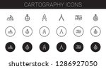 cartography icons set....   Shutterstock .eps vector #1286927050