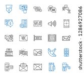 message icons set. collection...