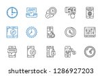 dial icons set. collection of... | Shutterstock .eps vector #1286927203